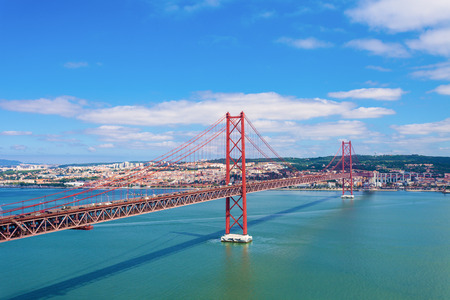 salazar: The 25 de Abril Bridge is a bridge connecting the city of Lisbon to the municipality of Almada on the left bank of the Tejo river, Lisbon