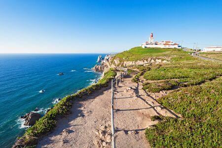 roca: Light house at Cape Roca, Sintra, Portugal