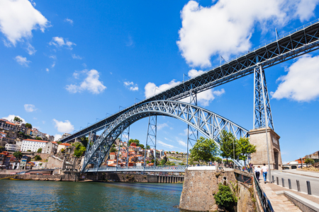 luis: The Dom Luis I Bridge is a metal arch bridge that spans the Douro River between the cities of Porto and Vila Nova de Gaia, Portugal
