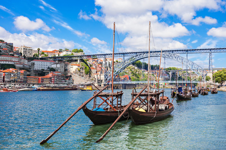 luis: Douro river and traditional boats in Porto, Portugal