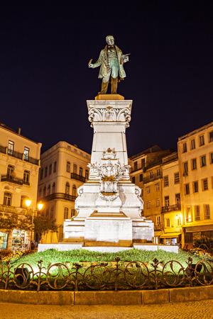 the narrator: Joaquim Antonio de Aguiar monument at Largo da Portagem in Coimbra, Portugal. He was a prominent Portuguese politician.