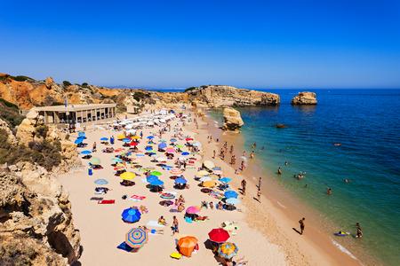 portugal: Sao Rafael beach in Albufeira, Algarve region, Portugal Stock Photo
