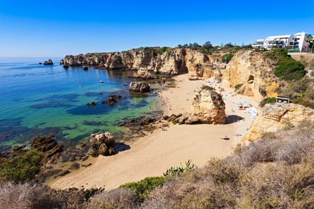 region of algarve: Camilo Beach in Lagos, Algarve region in Portugal