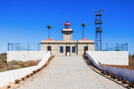 Lighthouse at Ponta da Piedade in Lagos, Algarve region in Portugal