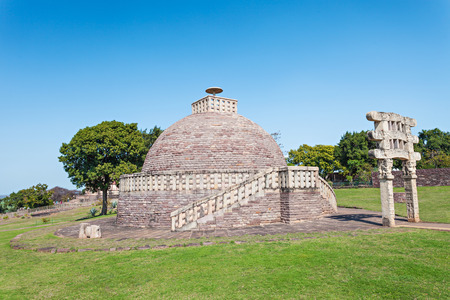 sanchi: Sanchi Stupa is located at Sanchi Town, Madhya Pradesh state in India