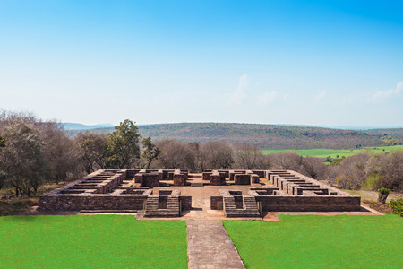 madhya pradesh: Sanchi Stupa is located at Sanchi Town, Madhya Pradesh state in India