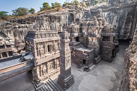 cave's: Kailas Temple in Ellora, Maharashtra state in India