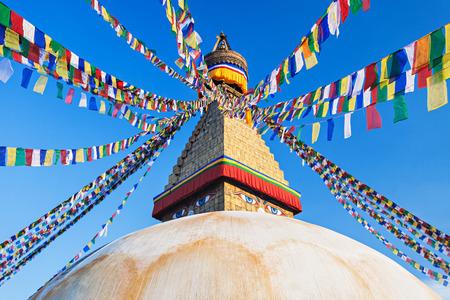Boudhanath (also called Boudha, Bouddhanath or Baudhanath) is a buddhist stupa in Kathmandu, Nepal photo