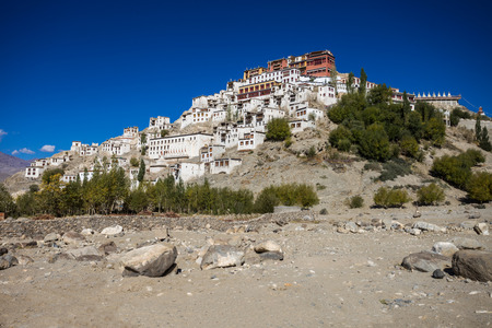gompa: Thiksey Monastery is a Tibetan Buddhist monastery in Ladakh, India.