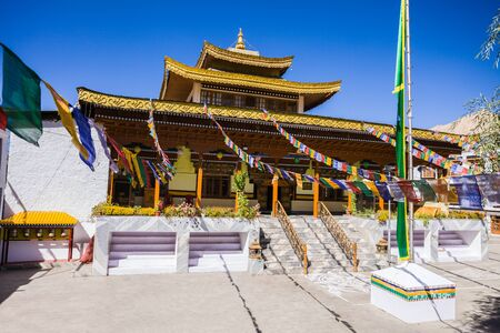 gompa: Chowkhang Gompa in the center of Leh, Ladakh, India.