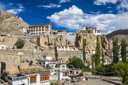 gompa: Lamayuru Monastery in the Indian State of Jammu and Kashmir