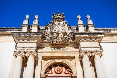 The University of Coimbra decor, Coimbra, Portugal Editorial