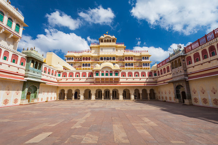 mughal architecture: Chandra Mahal Palace (City Palace) in Jaipur, India Editorial