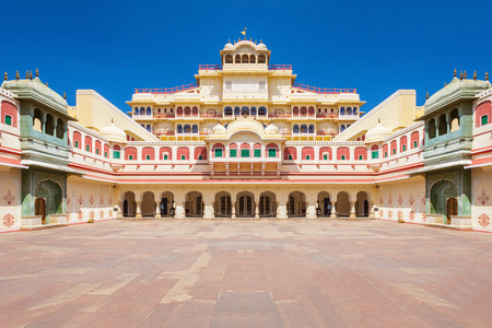 Chandra Mahal Palace (City Palace) in Jaipur, India Editorial