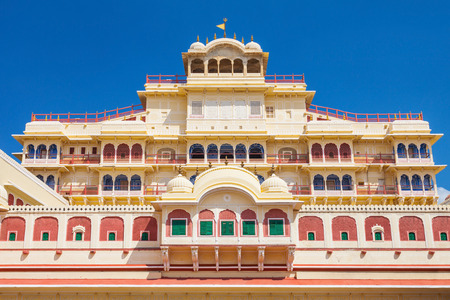 rajput: Chandra Mahal Palace (City Palace) in Jaipur, India Editorial