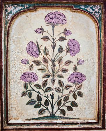 Beautiful pattern on the palace wall, Jaipur, India