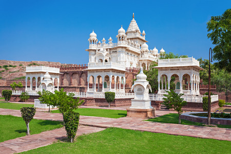 maharaja: Jaswant Thada mausoleum in Jodhpur, Rajasthan, India