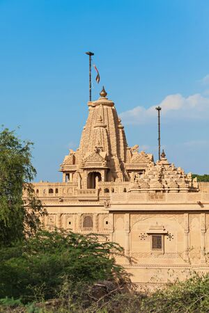 rajput: Hindu temple in abandoned village of Kuldhara in Rajasthan,Thar desert, India,Asia