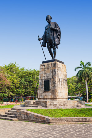 mahatma: Mahatma Gahdhi statue in the center of Mumbai, India Editorial
