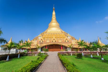 The Global Vipassana Pagoda is a Meditation Hall in Mumbai, India