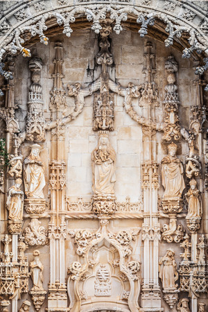Detail of the Convent of Order of Christ is a religious building and Roman Catholic building in Tomar, Portugal