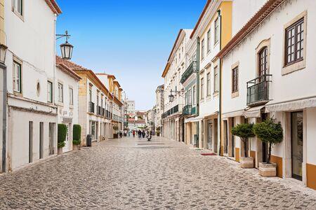 portugal: Tomar city center, Santarem District in Portugal Stock Photo
