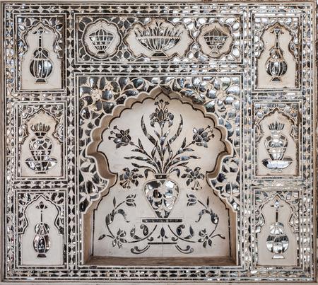 jaipur: Beautiful pattern on the palace wall, Jaipur, India