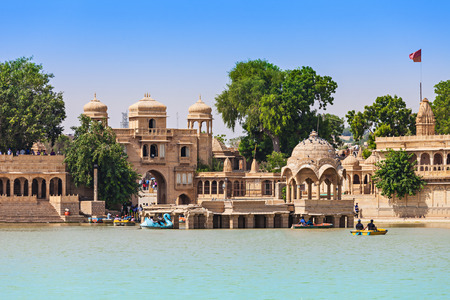 thar: Gadsisar (Gadisagar) lake in Jaisalmer, Rajasthan, India