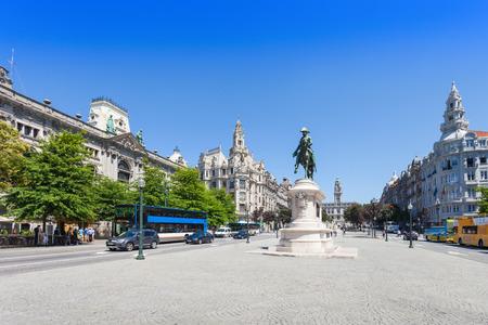 PORTO, PORTUGAL - JULY 12: Liberdade Square on July 12, 2014 in Porto, Portugal