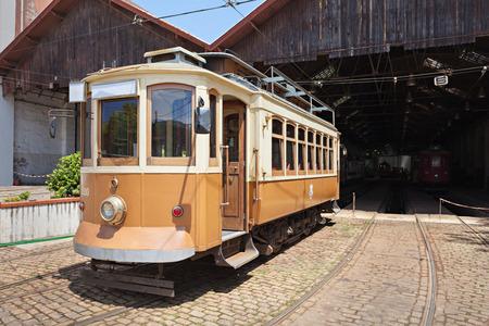 electrico: PORTO, PORTUGAL - JULY 02: Museu do Carro Electrico (Tram Museum) on July 02, 2014 in Porto, Portugal Editorial