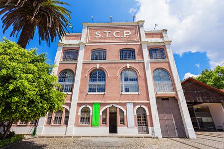PORTO, PORTUGAL - JULY 02: Museu do Carro Electrico (Tram Museum) on July 02, 2014 in Porto, Portugal Editorial