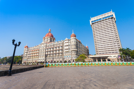 febuary: MUMBAI, INDIA - FEBRUARY 21: The Taj Mahal Palace Hotel on Febuary 21, 2014 in Mumbai, India