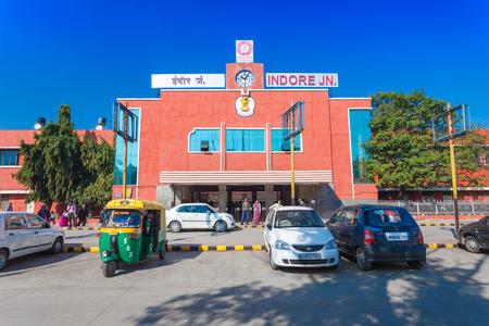indore: INDORE, INDIA - FEBRUARY 17: Indore train station on February, 17, 2014, Indore, India