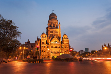 febuary: MUMBAI, INDIA - FEBRUARY 21: The Municipal Corporation Building on Febuary 21, 2014 in Mumbai, India Editorial