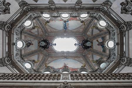palacio: PORTO, PORTUGAL - JUNE 30: Decor at the Palacio da Bolsa (Stock Exchange Palace) is a historical building on June 30, 2014 in Porto, Portugal Editorial