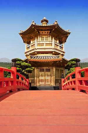 Nan Lian Garden, Chi Lin Nunnery, Hong Kong Stock Photo