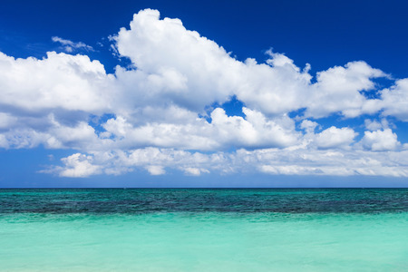 Nobody on the beauty beach with turquoise water
