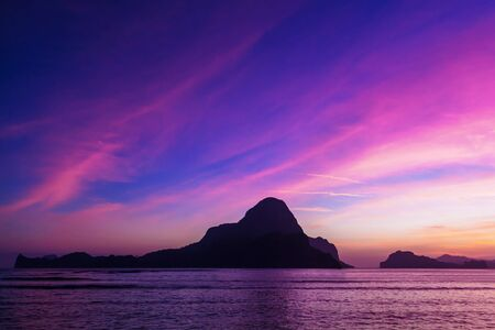 nido: Beauty sunset in El Nido, Palawan, Philippines