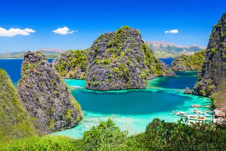 섬, 필리핀에서 매우 beautyful 라군