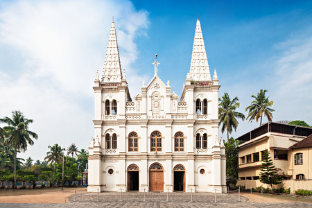 Santa Cruz Basilica in Cochin, Kerala, India Stock Photo