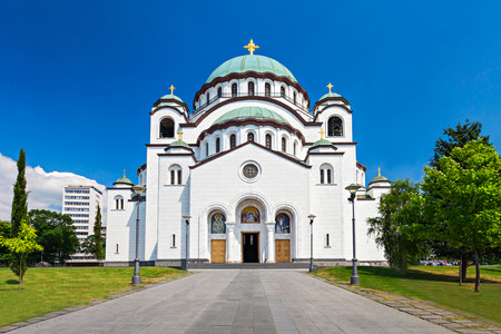 The Cathedral of Saint Sava - is the largest Orthodox church in the world Stock Photo