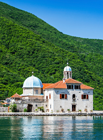 Gospa od Skrpjela (Our Lady of the Rocks), Perast Stock Photo
