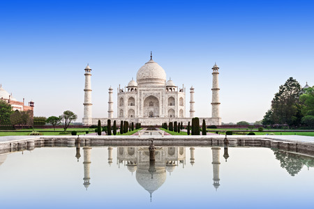 Taj Mahal in sunrise light, Agra, India Stock Photo