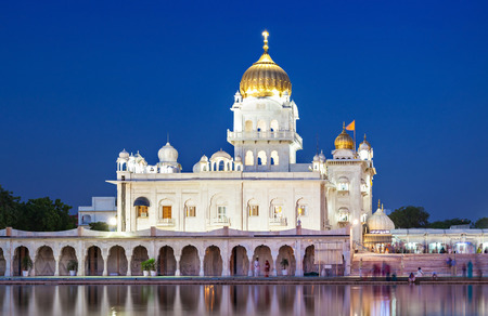 Gurdwara Bangla Sahib is the most prominent Sikh gurdwara Stock Photo
