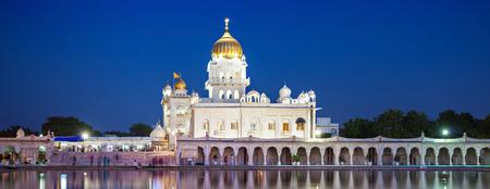 Gurdwara Bangla Sahib is the most prominent Sikh gurdwara Stock Photo