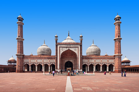 Jama Masjid is the principal mosque of Old Delhi in India. Stock Photo - 36873080