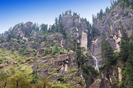 Jogini waterfall in Manali (Vashisht), Himachal Pradesh, India