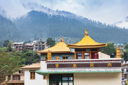 Tibetan monastery in Manali town, Himalaya, India