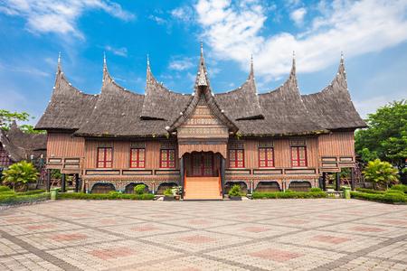 the museum: West Sumatra pavilion in Taman Mini Indonesia Park.