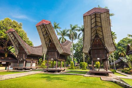 taman: Sulawesi pavilion in the Taman Mini Indonesia Park Editorial